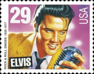 The Elvis Presely stamp was issued on January 8, 1993 and still remains one of the most popular stamps today...better than a pigeon, Hoselton says.