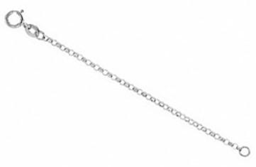 14K White-1.5mm Belcher Rolo Chain
