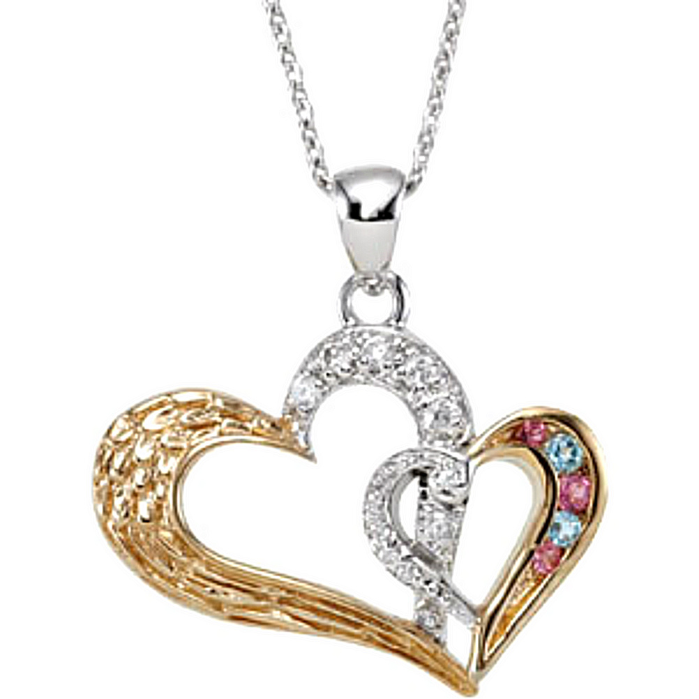 18 25x25MM Rhodium-Plated Sterling Silver Antiqued In My Heart Pendant Necklace
