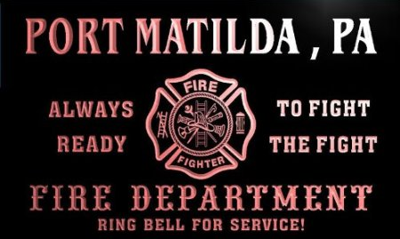 There was no reason to call the Port Matilda fire department or paramedics, as I realized Matilda was already gone.