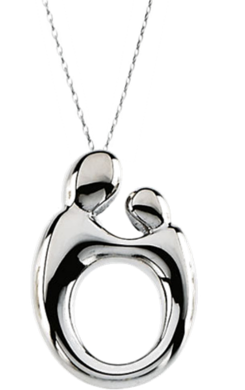 Mother and child series by janel russell boomer style n sterling silver mother and child necklace with adjustable rolo chain aloadofball Image collections