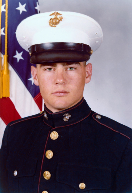 Daniel Whitney in Marine Dress Blues