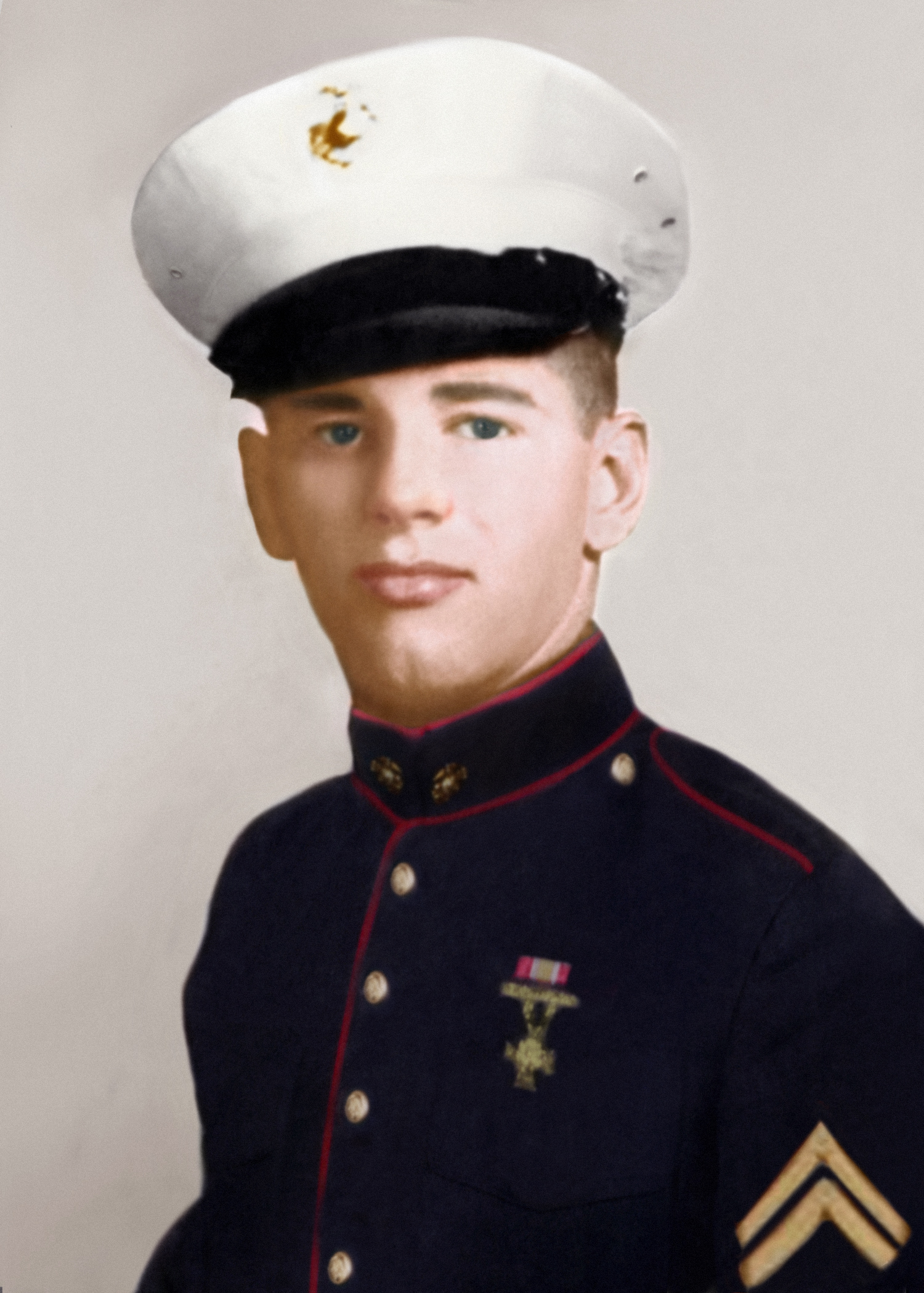 Richard Brockman in his Dress Blues, once a Marine always a Marine