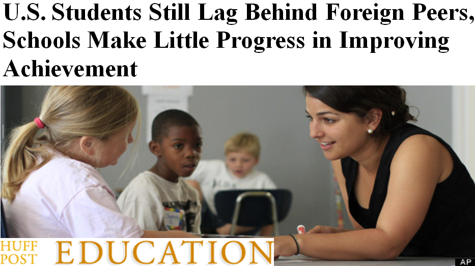 Huffington Post Education reports U.S. Students Still Lag Behind Foreign Peers, Schools Make Little Progress In Improving Achievement  July 2012