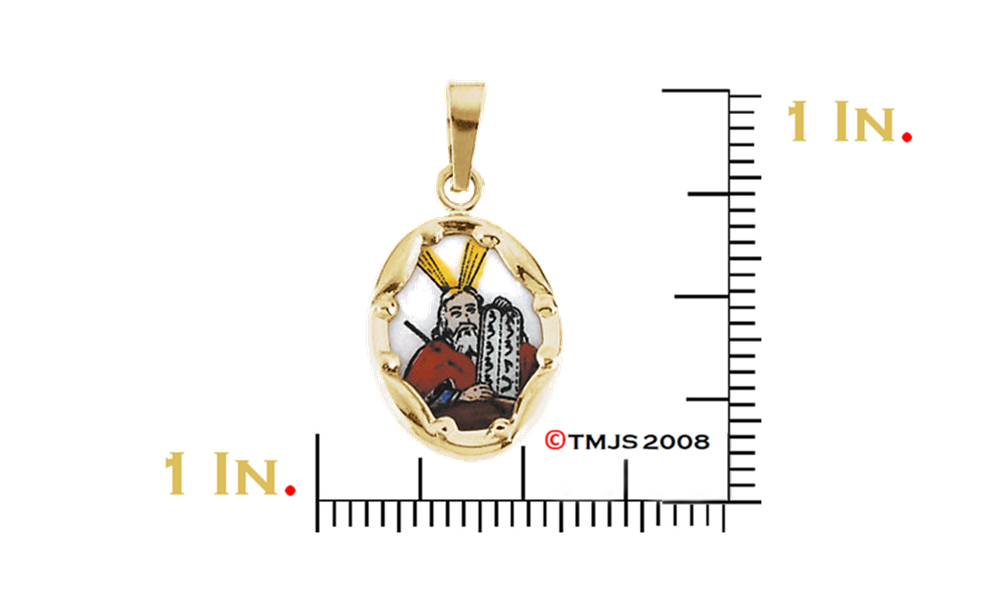 16mm x 31mm Jewel Tie 925 Sterling Silver Antiqued-Style Our Lady of Perpetual Help Medal