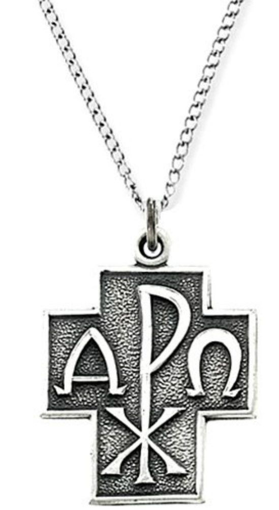Alpha omega necklace 1006 boomer style magazineboomer style magazine alpha omega christos cross necklace in antiqued sterling silver mozeypictures Gallery
