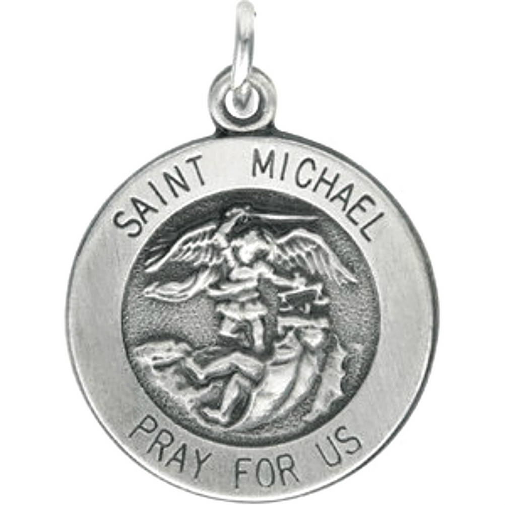 saint sterling michael silver st michaels necklace chain dragon rings pendant