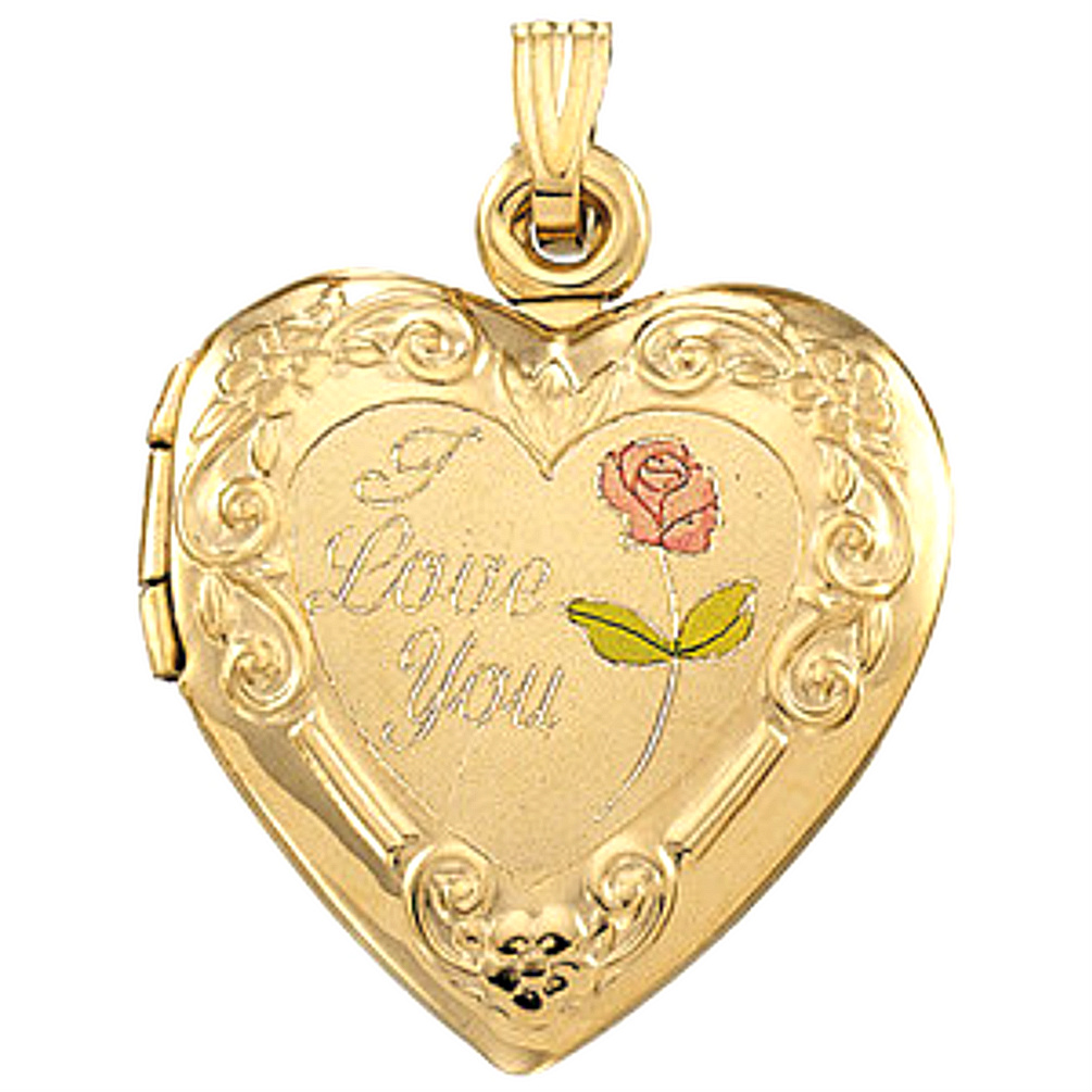 silver heart you love flower sterling bling locket engraved roseflower lockets i pmr rose jewelry pendant