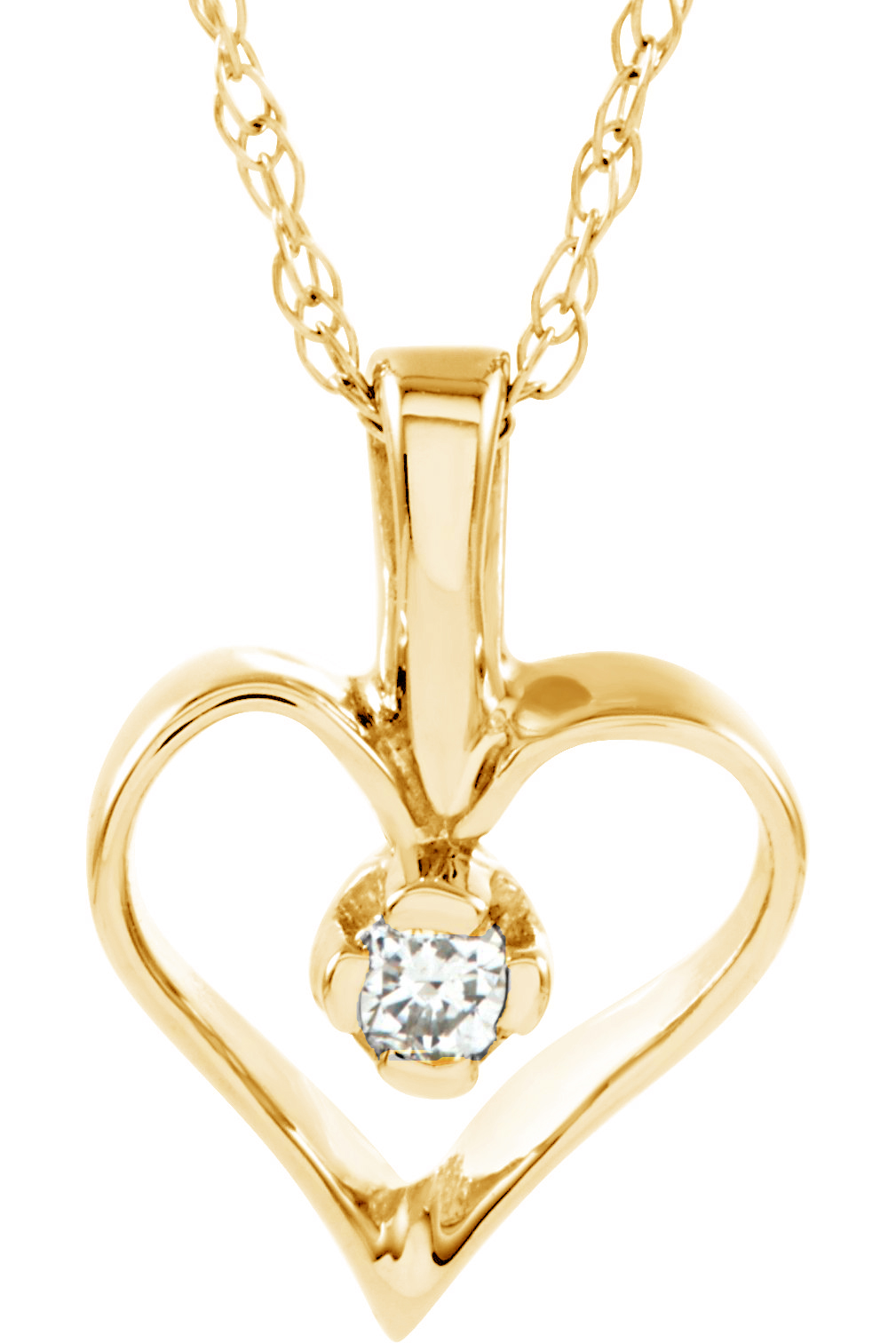 Diamond heart pendant necklace boomer style magazineboomer style petite 14k yellow gold diamond heart necklace aloadofball Images