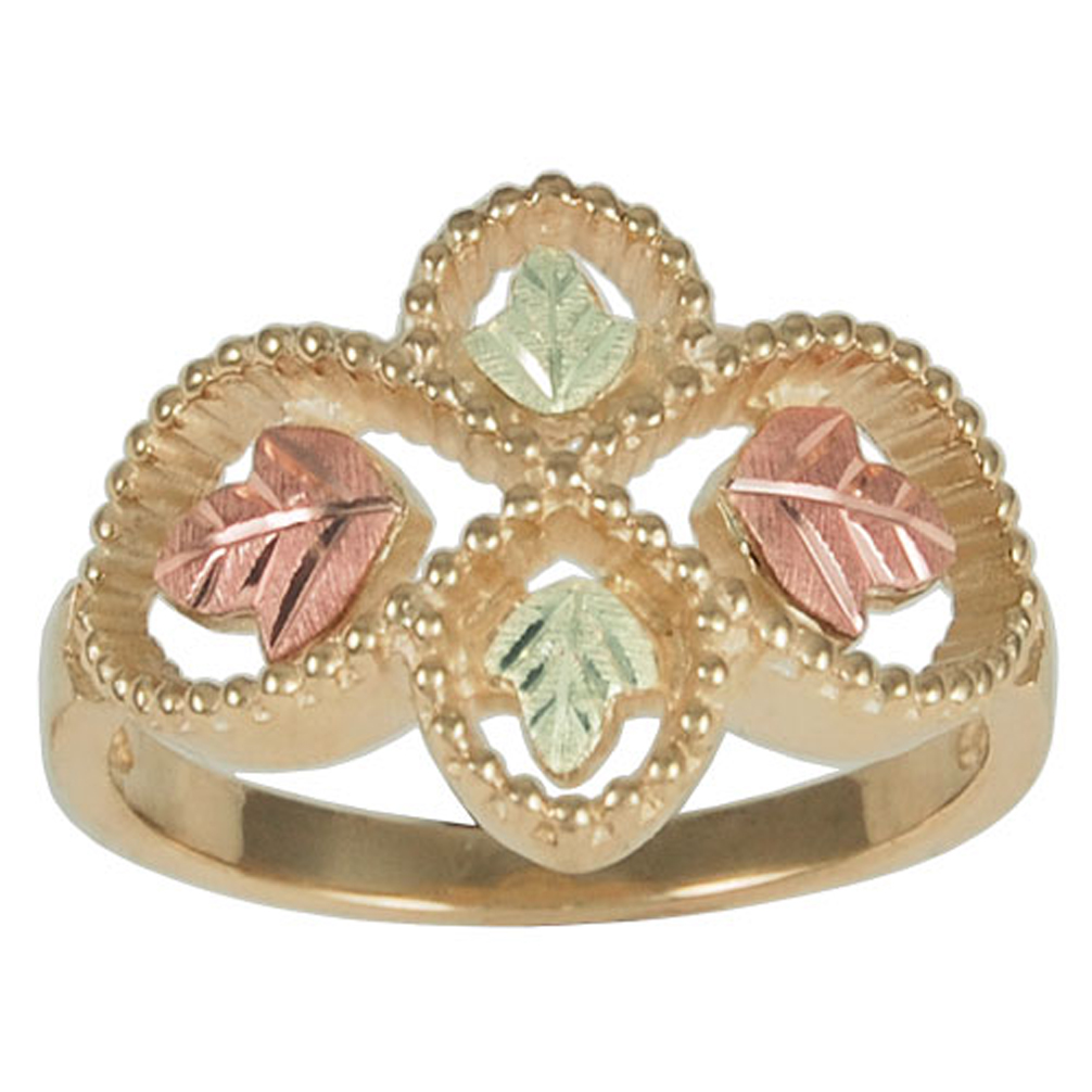 Womens Rings in 10k Yellow Gold 12k Rose and Green Gold Black