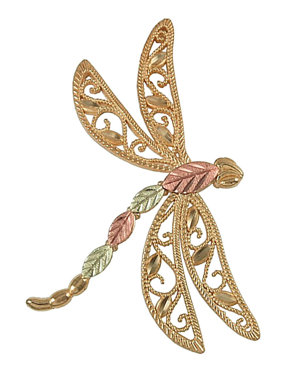 Dragonfly Jewelry with Black Hills Gold Motif - Boomer Style ...