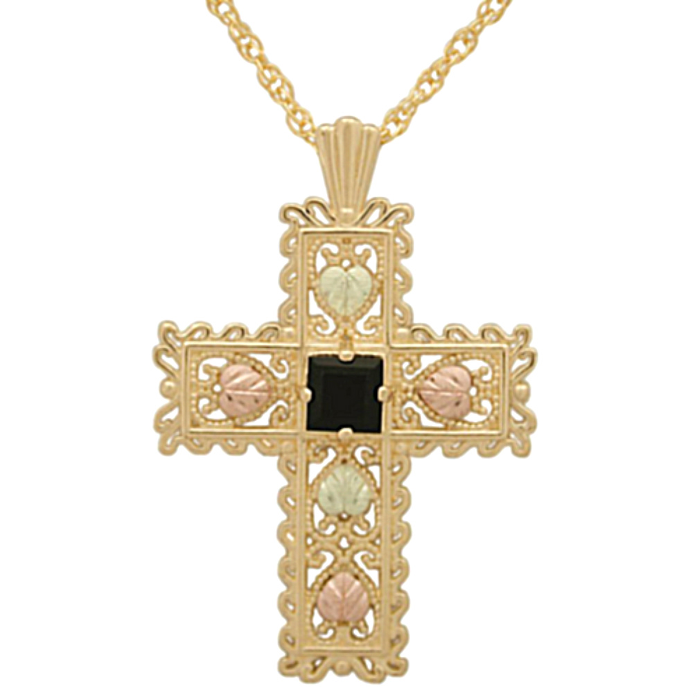 gold zirconia red cubic square cut cross garnet plated necklace genuine tcw pendant and