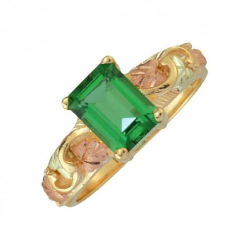 Mt St Helens Emerald Ring