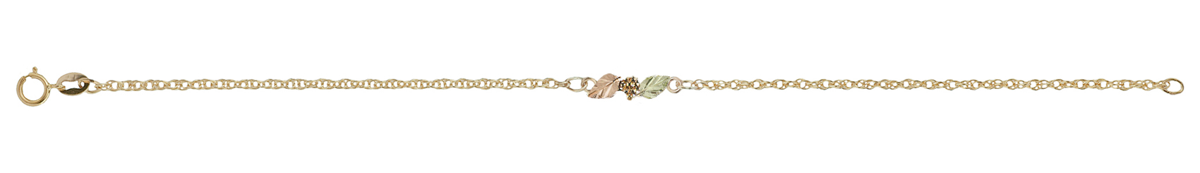 anklets babies international baby charms anklet filled peanut with gold for