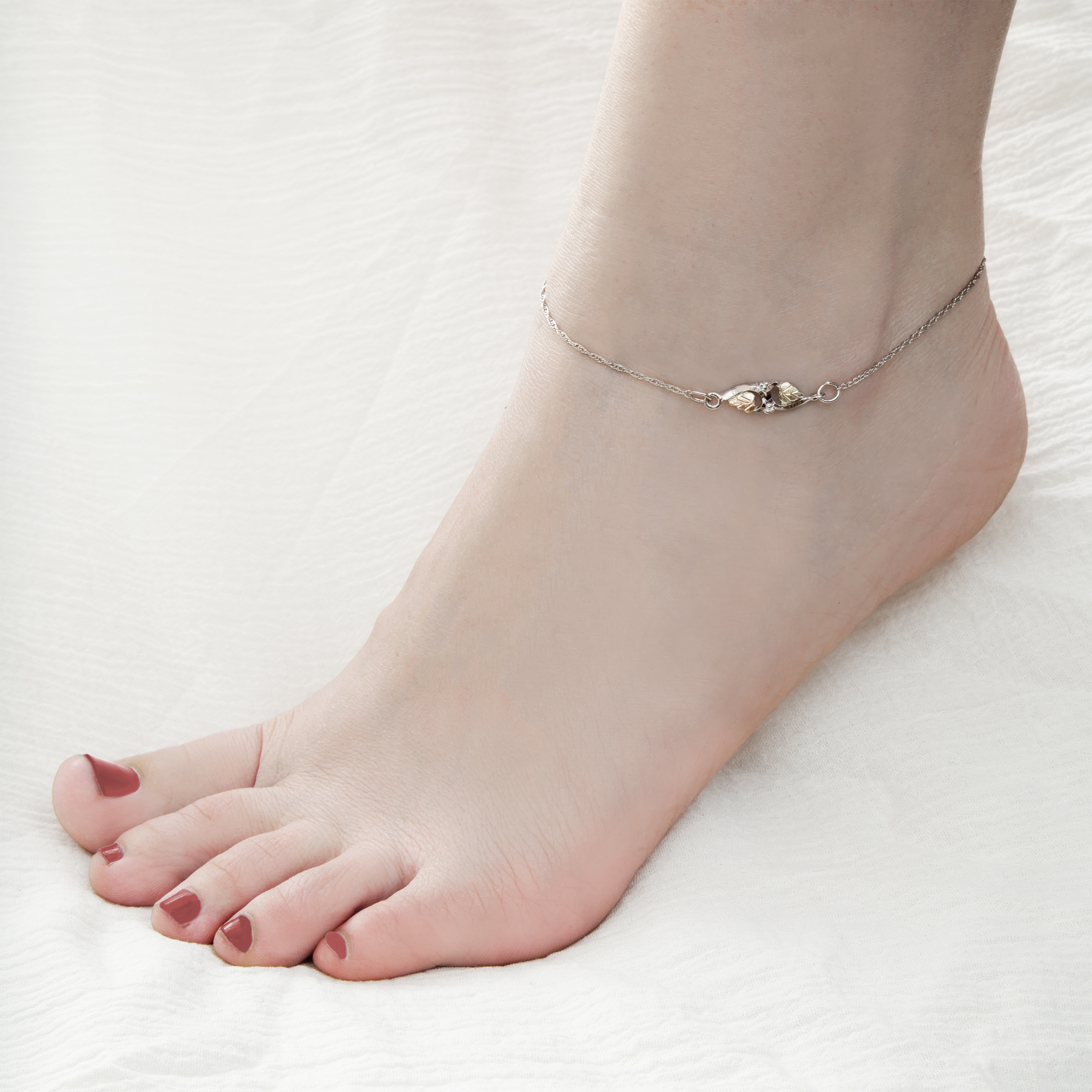 swirl heart more and link ankle bracelet anklet views
