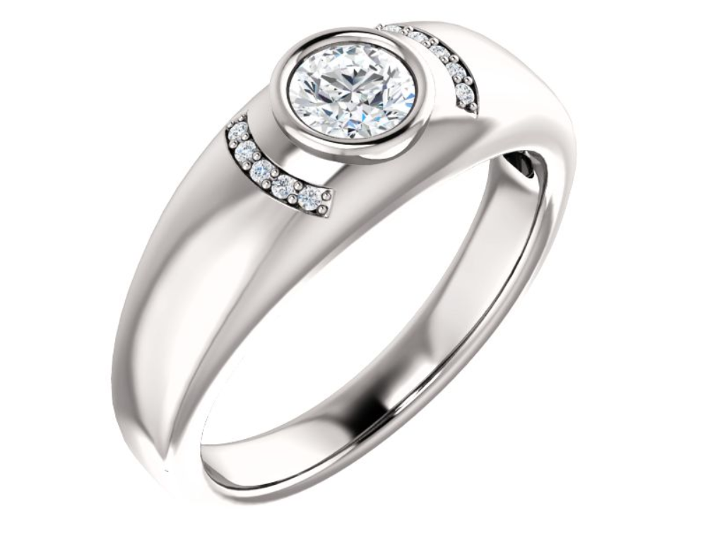s rings in 14k yellow gold 14k white gold