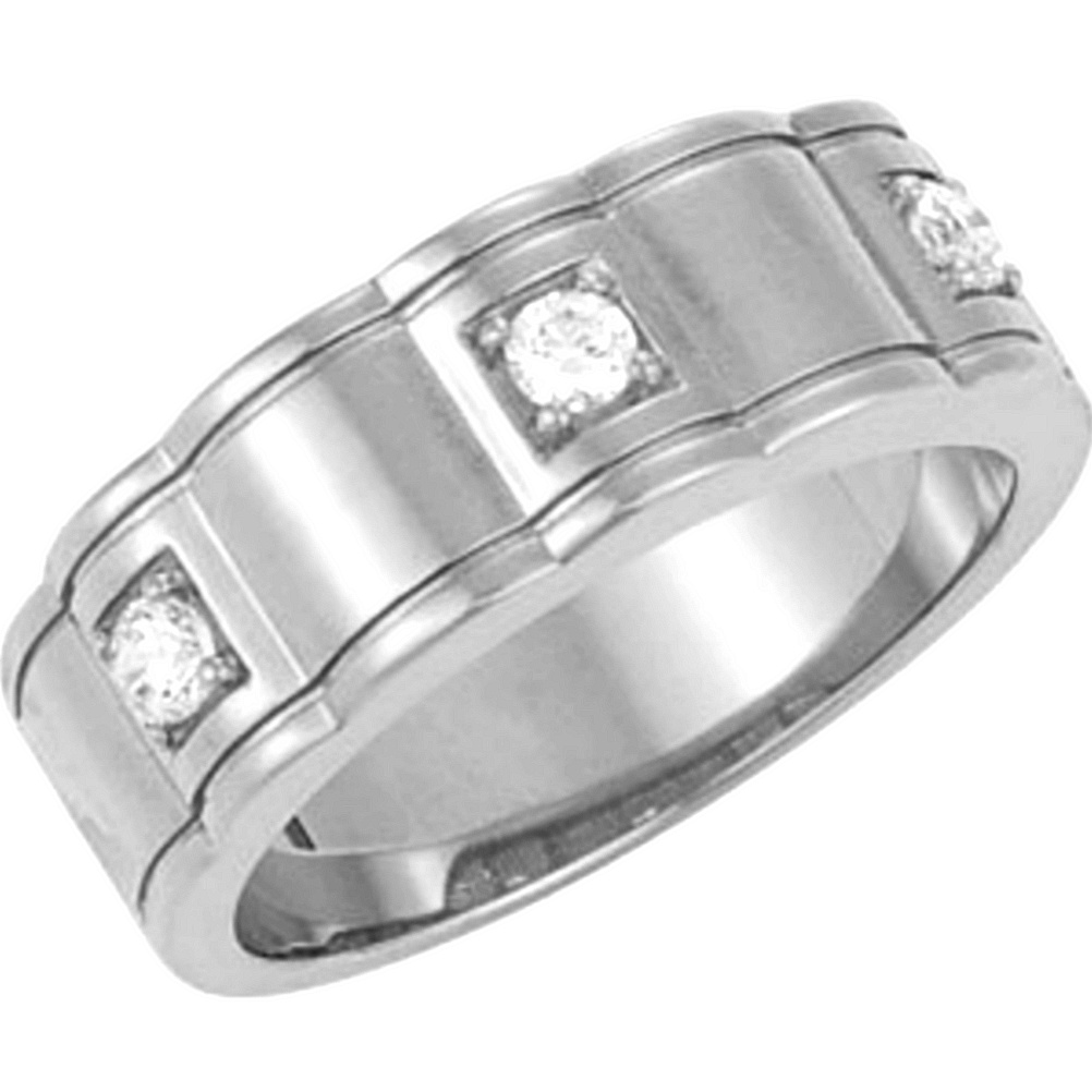 Mens Diamond Rings in 14k Yellow Gold 14k White Gold Platinum and