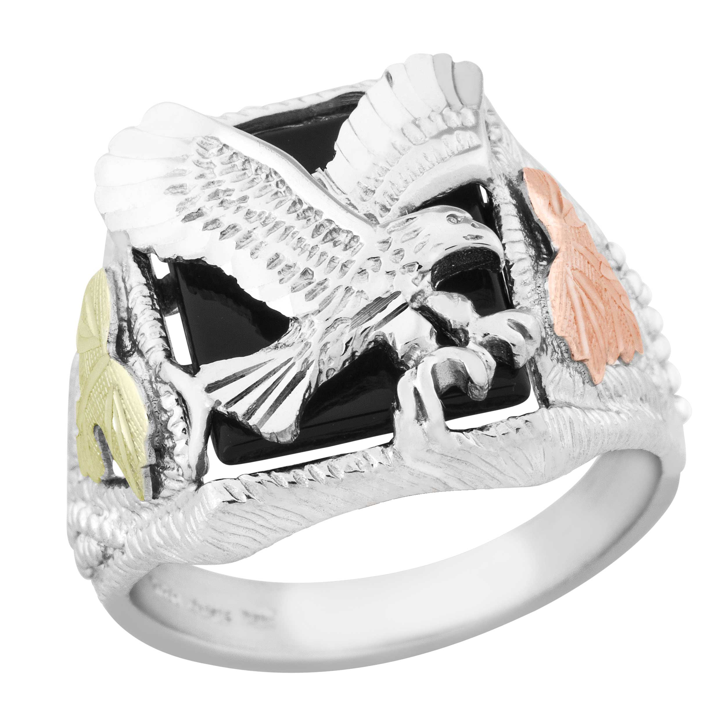 silver sterling men main ring rings eagle s gold with jewellery black hills american for style boomer motif