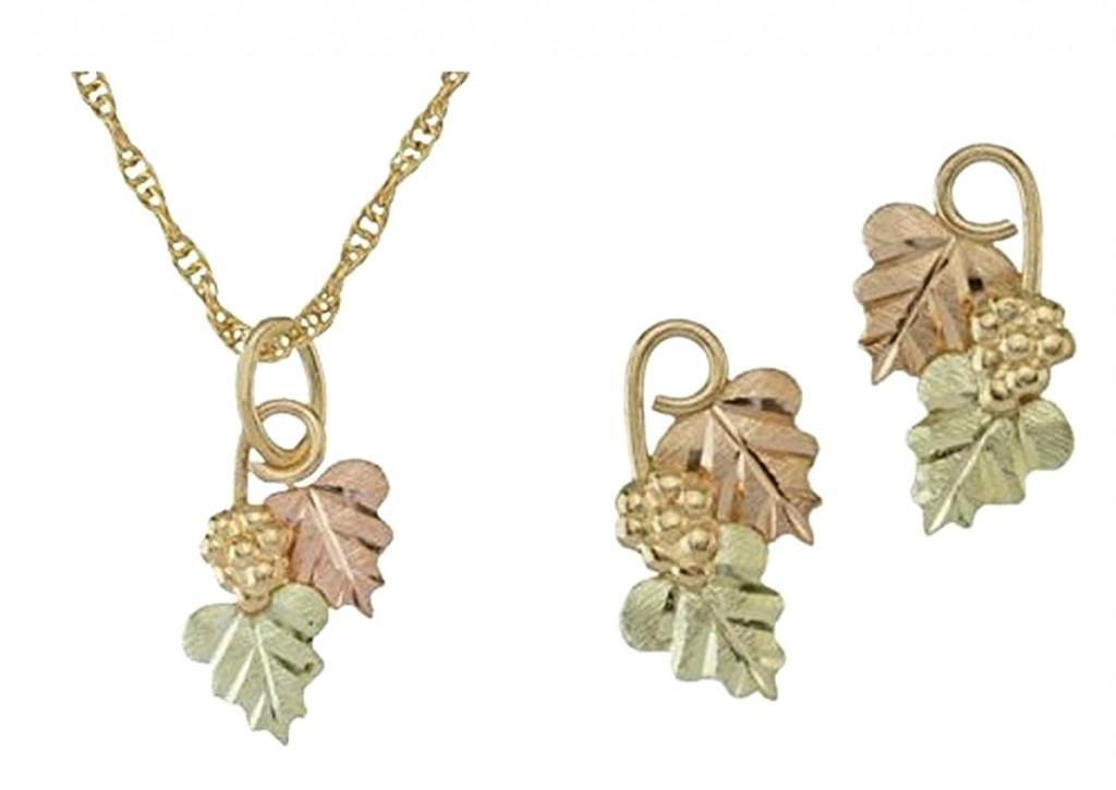 10k Yellow Gold Black Hills Gold Jewelry Sets Boomer
