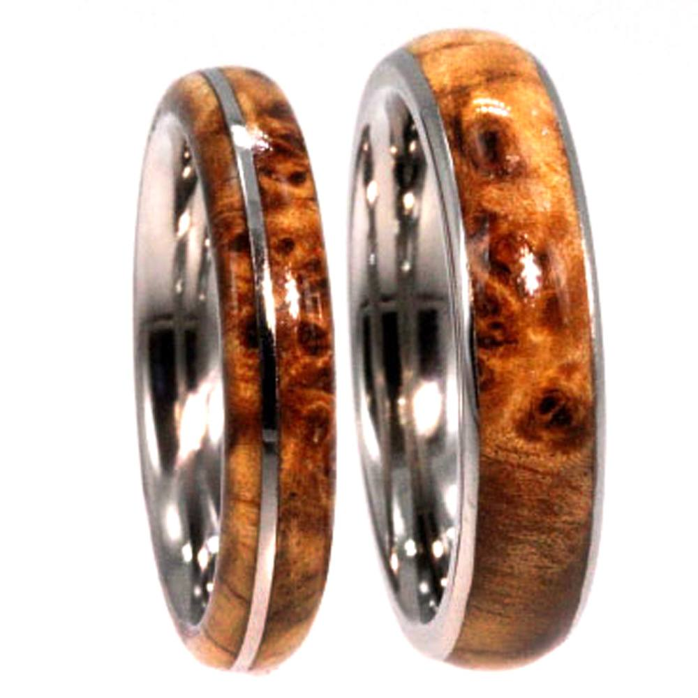His and Hers Handmade Wedding Bands by Johan Rust for The Mens