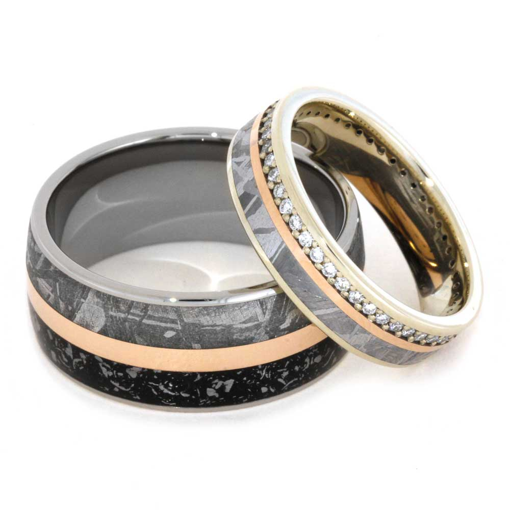 His and Hers Handmade Wedding Bands by Johan Rust for The Men's Jewelry Store