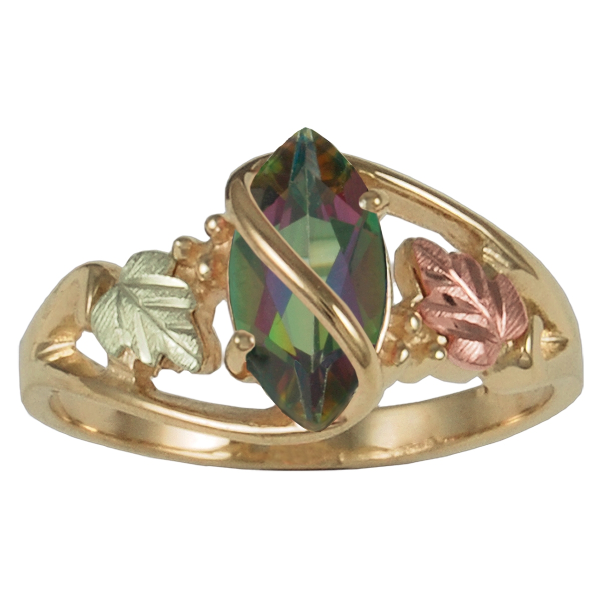 fire blushingblonde mystic rings wedding topaz