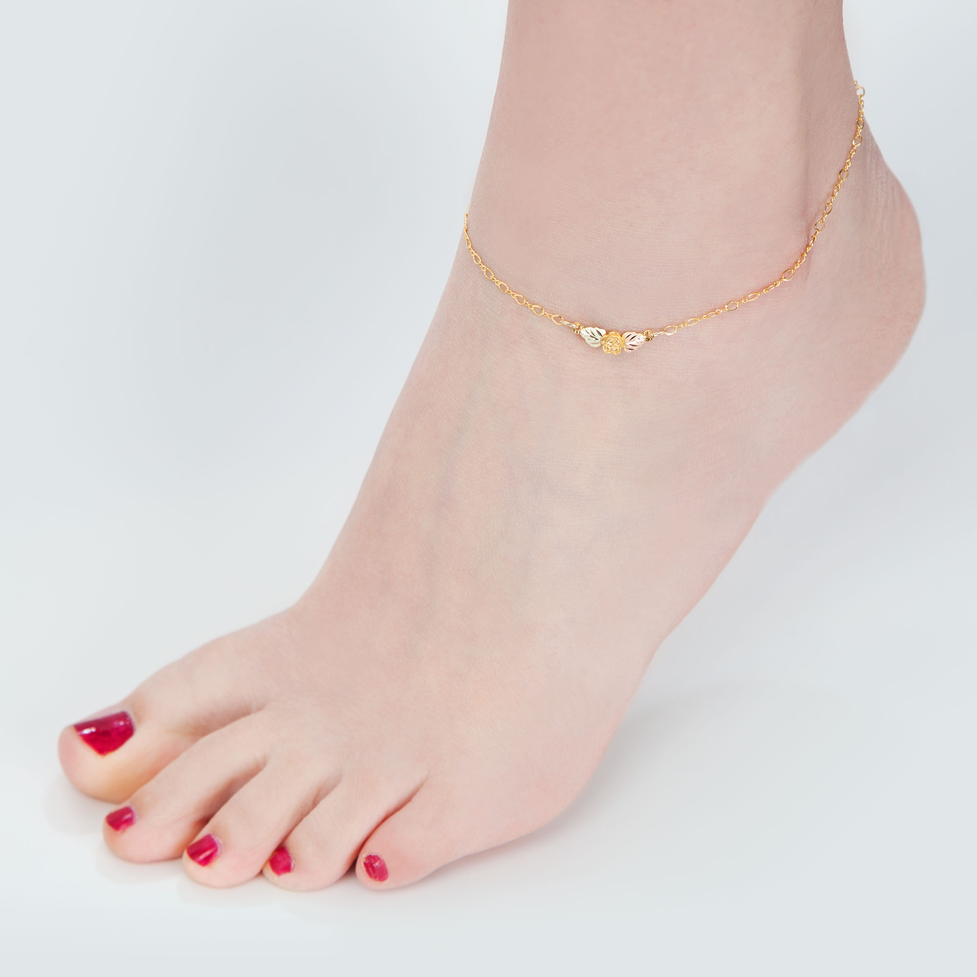 anklet in diamond designer lyst bezel metallic gold mateo yellow bracelet gallery ankle jewelry