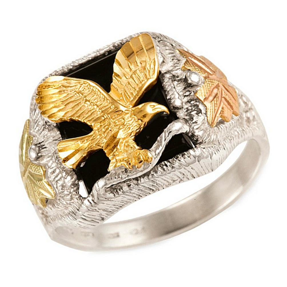 Ring Black Hills Men Ring With Eagle
