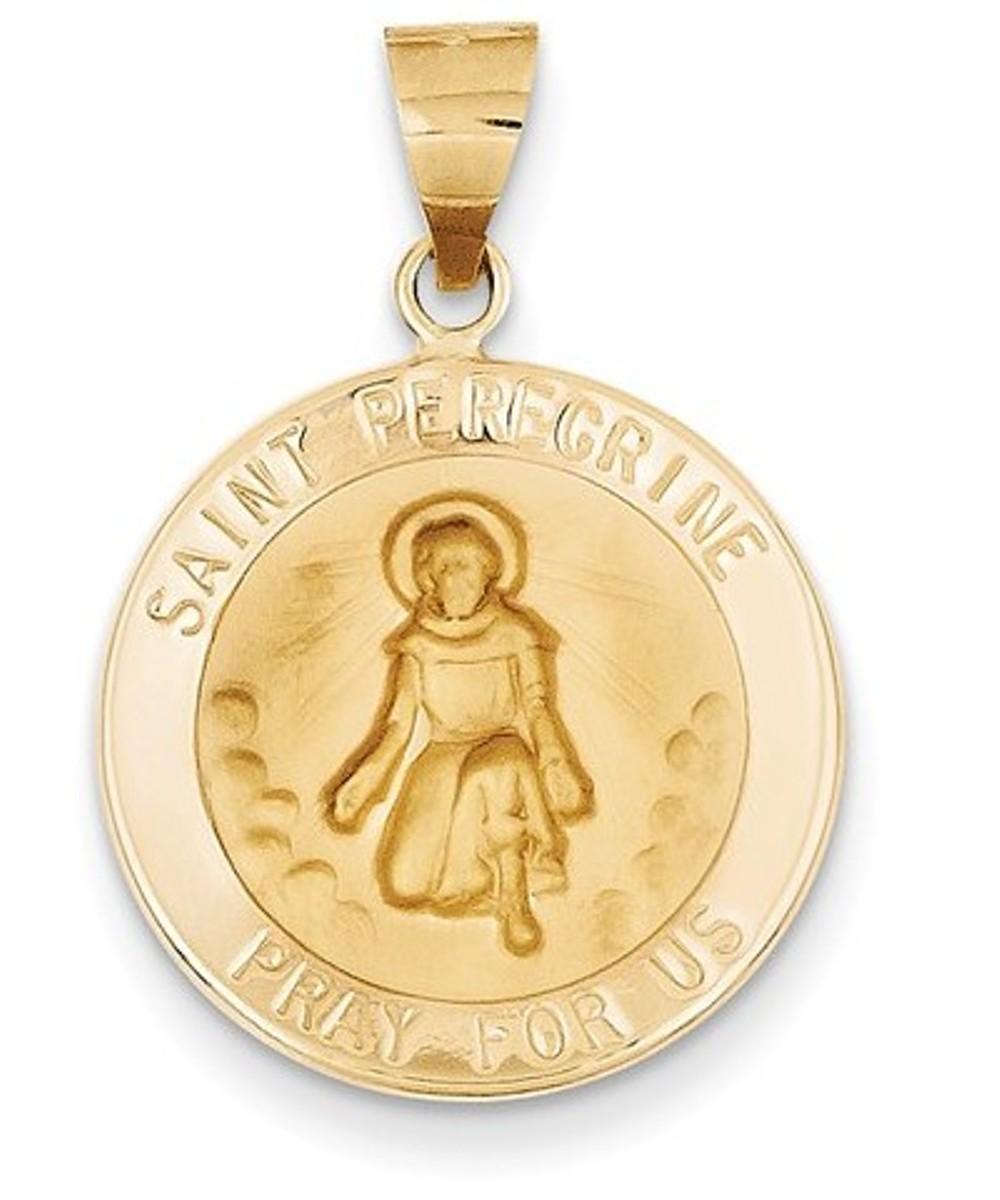 Luke Medal Pendant XR1356 14K Yellow Gold Polished /& Satin St