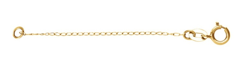 Sterling Silver Curb Chain Necklace Extender Safety Chain 2.25 2.25mm