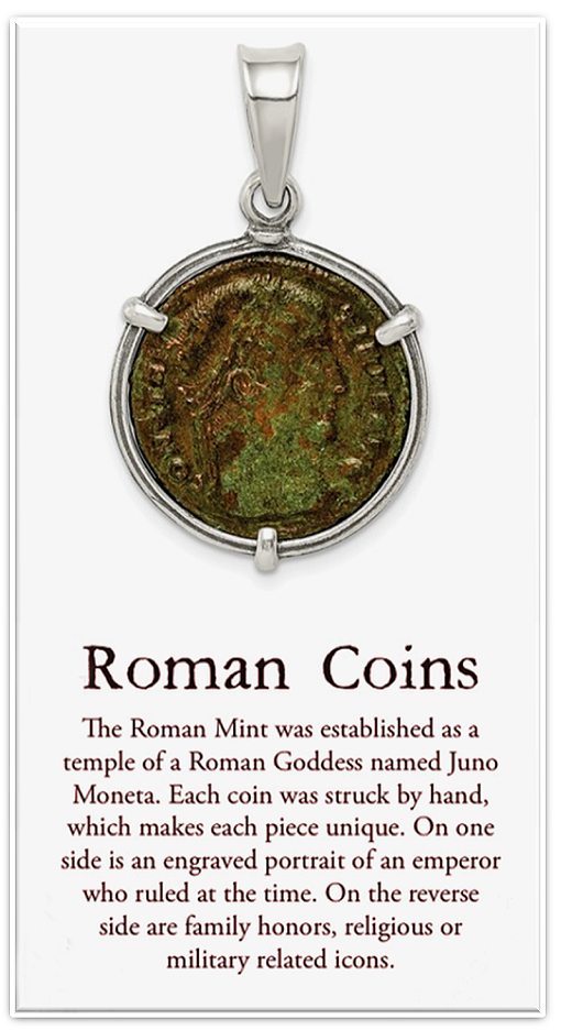 Genuine Roman Coin Jewelry: Ancient Widow's Mites, Prutahs