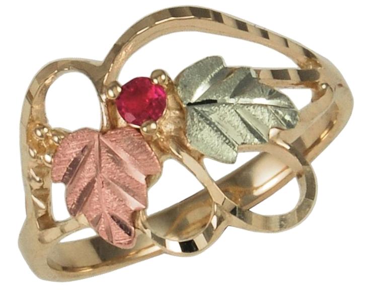 Gemstone Rings in Black Hills Gold Motif Boomer Style