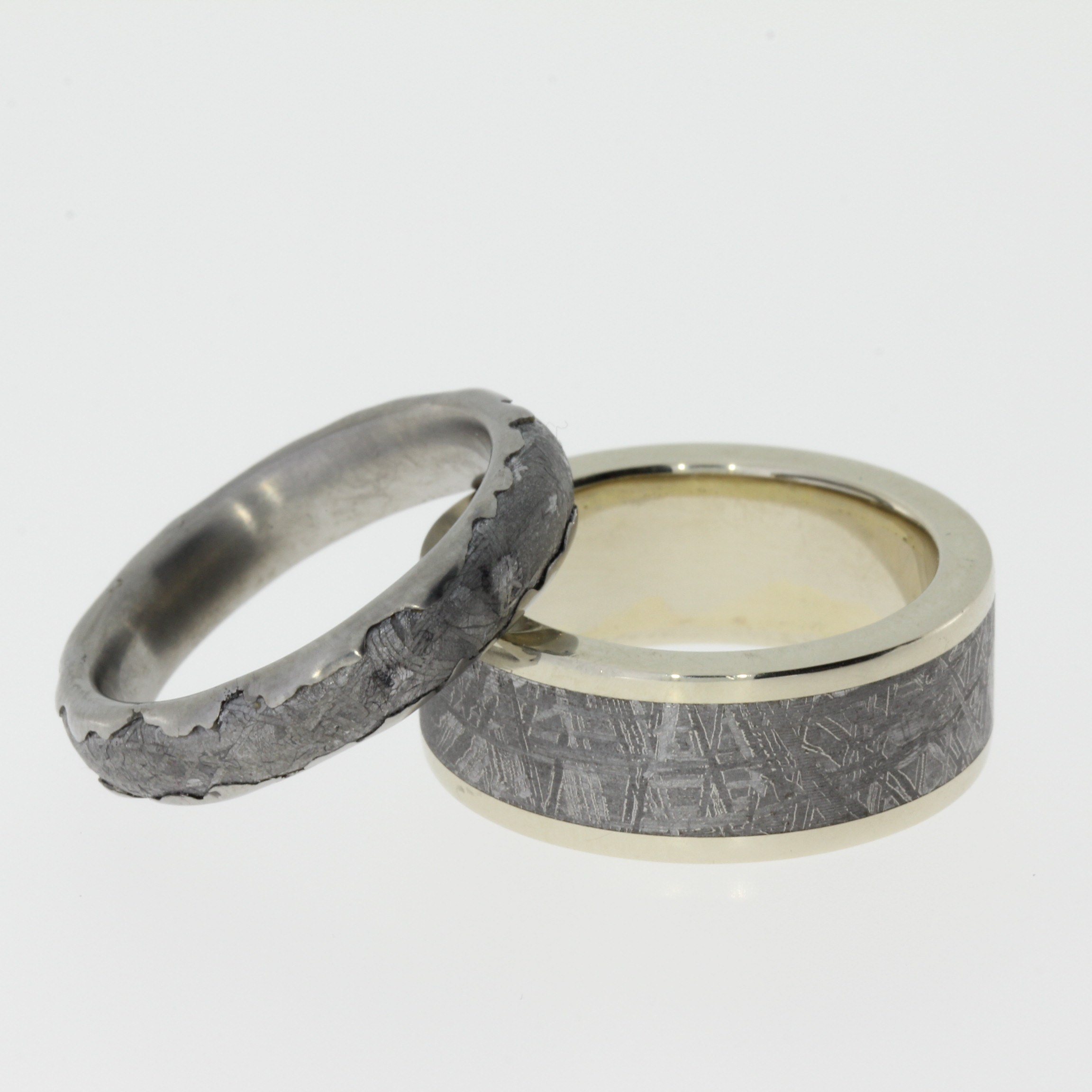 his and hers handmade wedding bands by johan rust for the men s